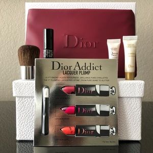 Dior Burgundy Beauty Bag